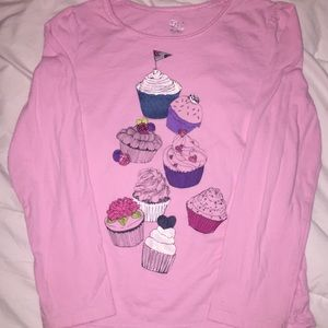 Children's Place Cupcakes long tee